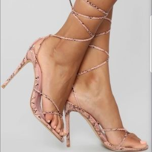 COPY - Pink Snake Heels